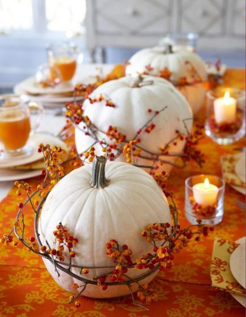 orange-and-white-pumpkin-centerpiece