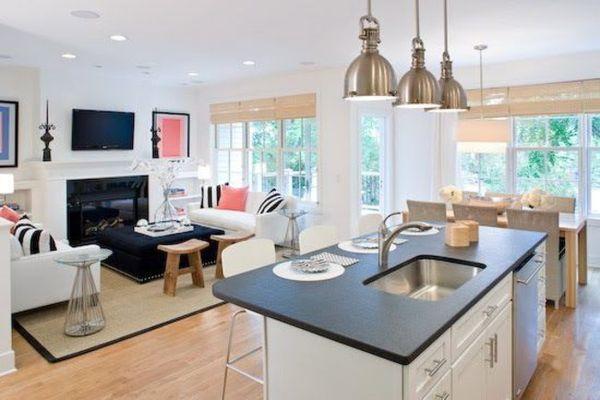 Kuchnia z salonem przegląd inspiracji  Design i wnętrze -> Kuchnia Nowoczesna Z Salonem