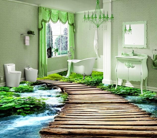 podłoga 3d łazienka